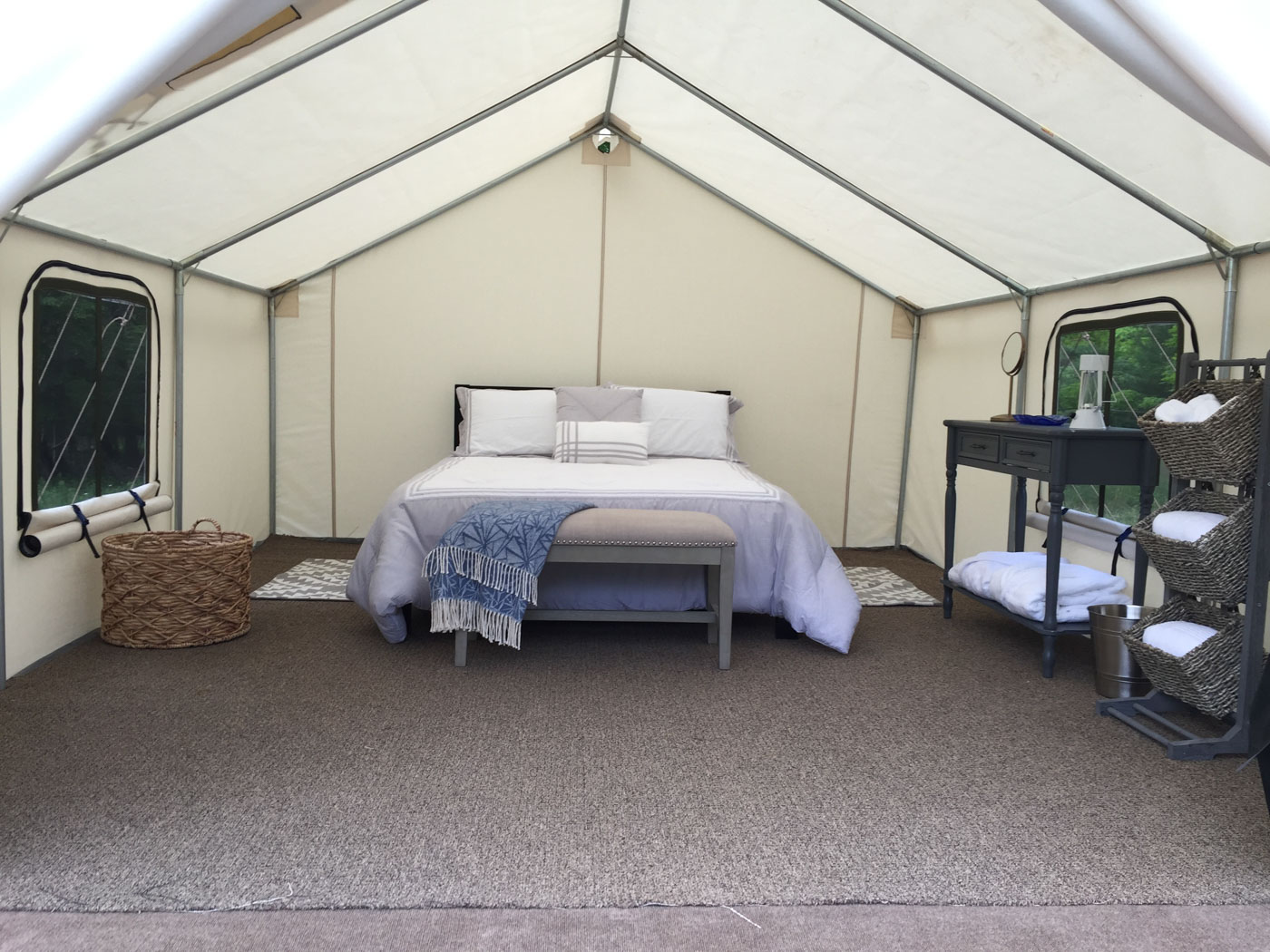 Glamping at Woodstock Meadows