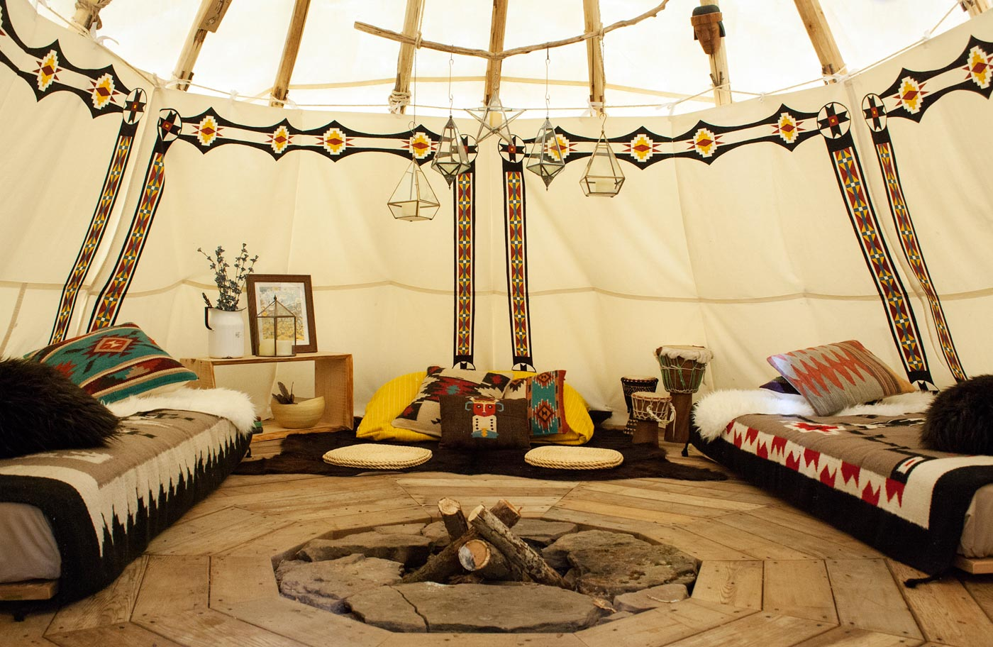 Bellfire Tipi In New York United States Glamping Com